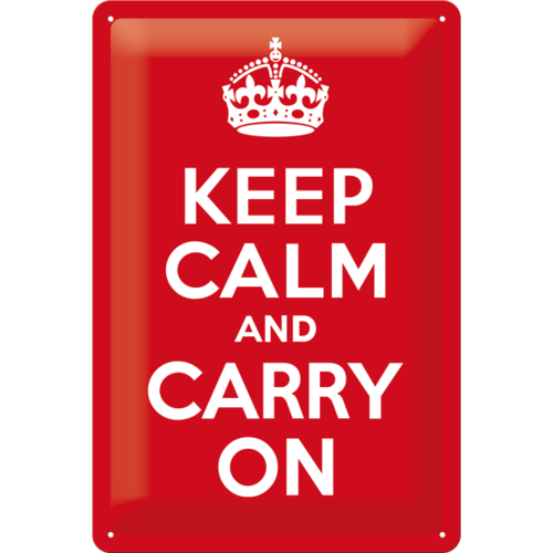 Retro KEEP CALM & CARRY ON Blechschild Küchenschild 20x30