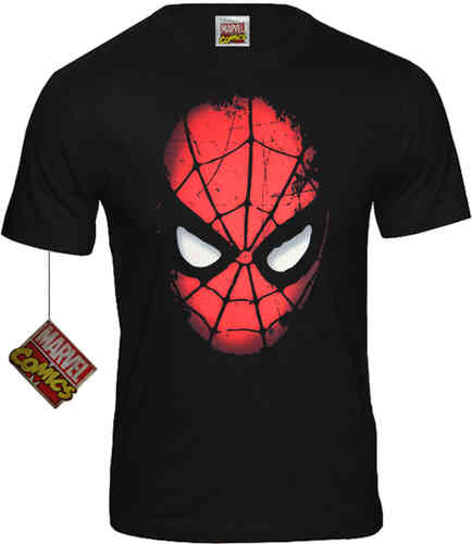 Marvel Comics SPIDER MAN Herren T-Shirt Face