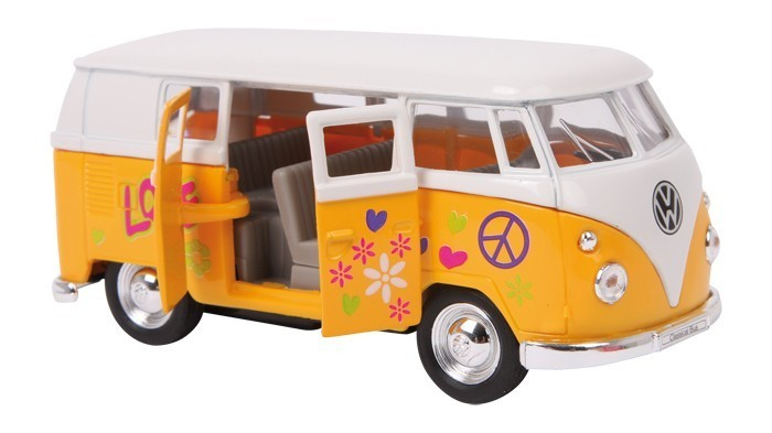 vw bus bulli t1 samba hippie modellauto gelb kaufen. Black Bedroom Furniture Sets. Home Design Ideas
