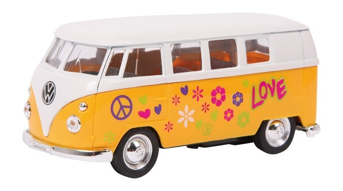 vw bus bulli t1 samba hippie modellauto gelb kaufen. Black Bedroom Furniture Sets. Home Design Ideas