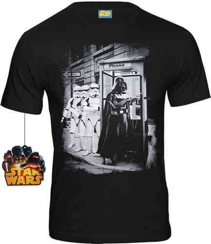 Star Wars Herren T-Shirt Darth Vader Phone