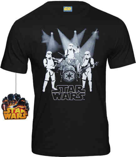 Star Wars Herren T-Shirt Trooper Rock Band