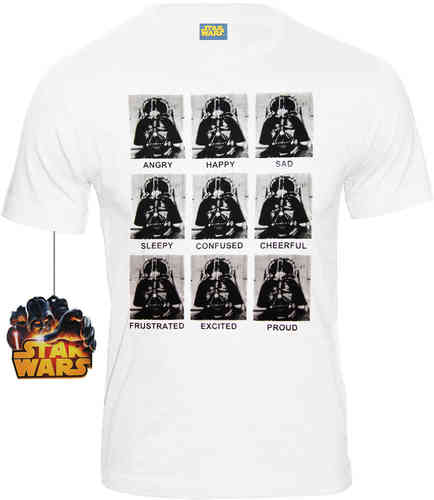 Star Wars Herren T-Shirt Darth Vader Emotions