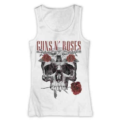 original Guns N' Roses Girl Tank Top Flower Skull