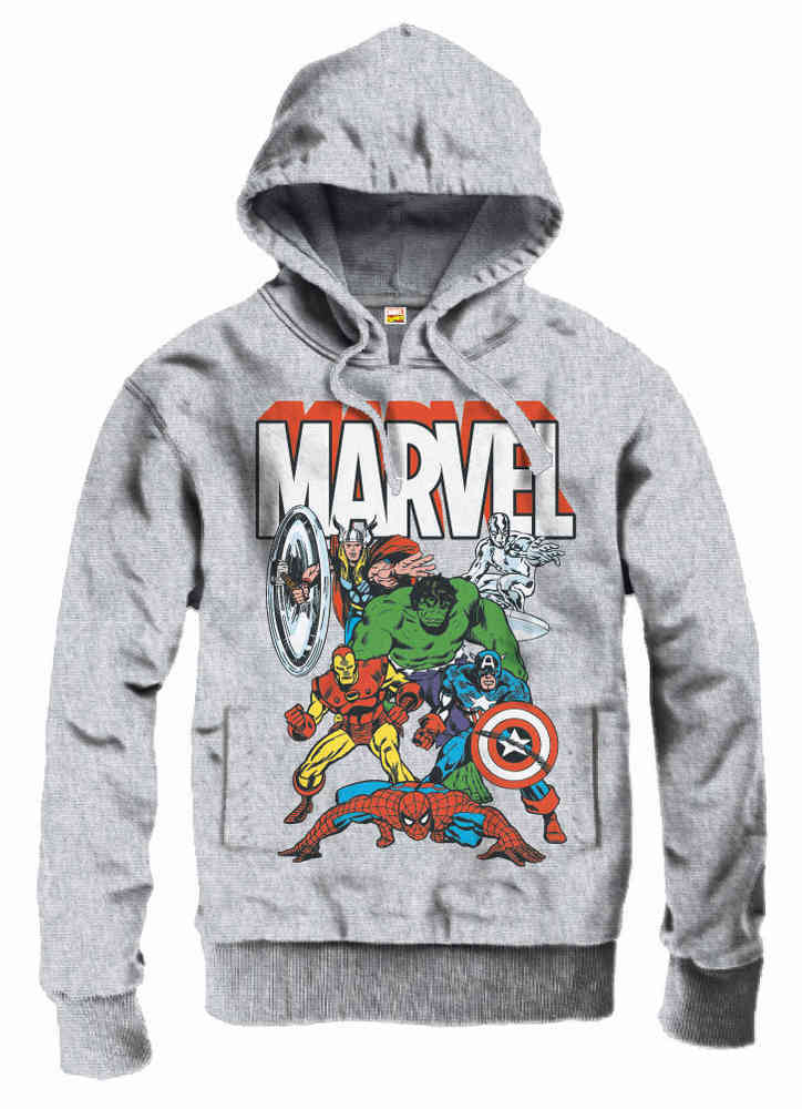 Marvel The Avengers Kapuzenpullover Hoodie Sportsgrey