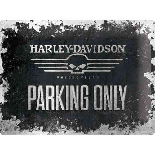 Harley Davidson Skull Parking Only Blechschild 30x40 cm