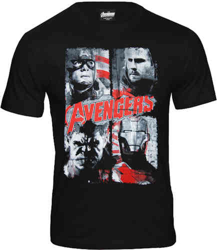 Marvel Comics The Avengers Herren T-Shirt 4 Faces