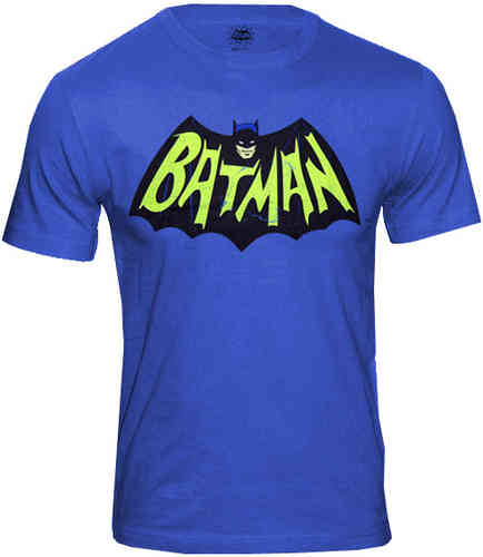 DC Comics BATMAN Herren T-Shirt VINTAGE LOGO TV SERIES