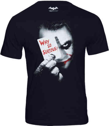 DC Comics Joker Face Herren T-Shirt Why So Serious
