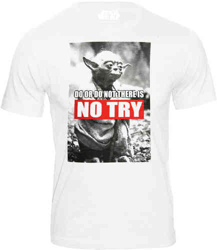Star Wars Yoda Herren T-Shirt NO TRY