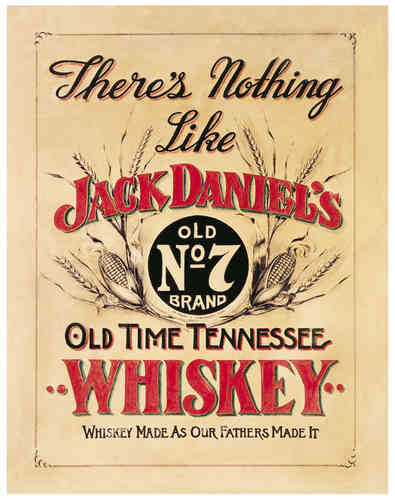 Jack Daniels Schild Blechschild Nothing Like 30x40cm
