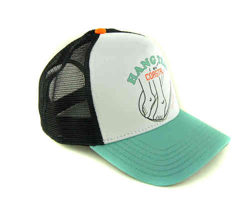 Coastal 80er Retro Trucker Mesh Cap Hang Ten