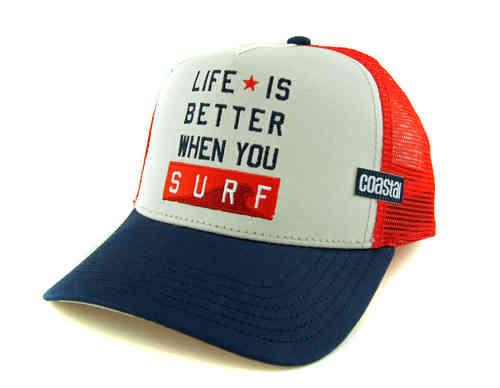 Coastal Retro Trucker Mesh Life Is Better When You Surf