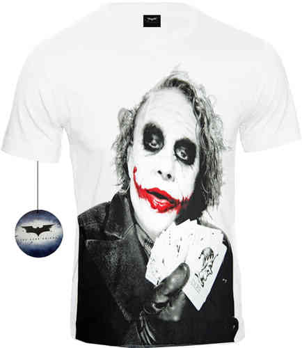 Batman The Dark Knight Herren T-Shirt Joker Poker