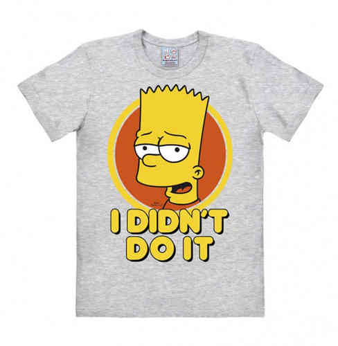 Retro Bart Simpson Herren T-Shirt I Didn´t Do It