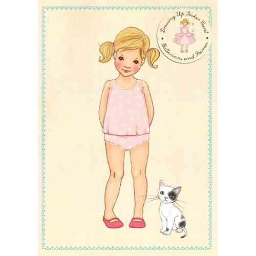 Belle & Boo Sticker Karte Anziehkarte Ballerinas & Fairies