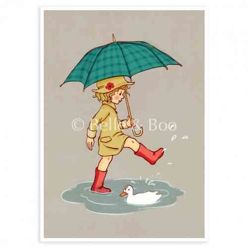 Belle & Boo Postkarte Umbrella