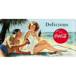 Retro Coca Cola Blechschild Beach Couple 25x50 cm