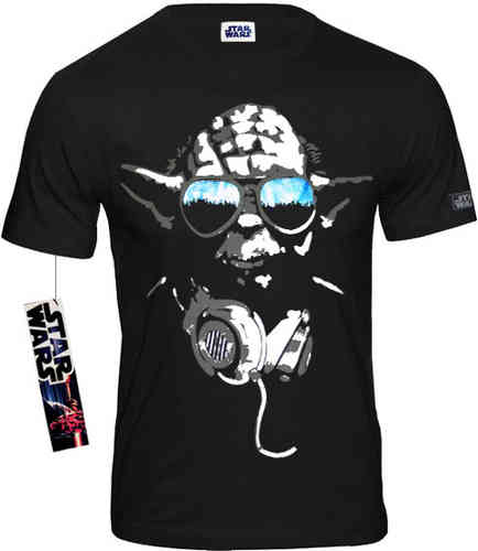 Star Wars Herren T-Shirt Yoda Cool schwarz