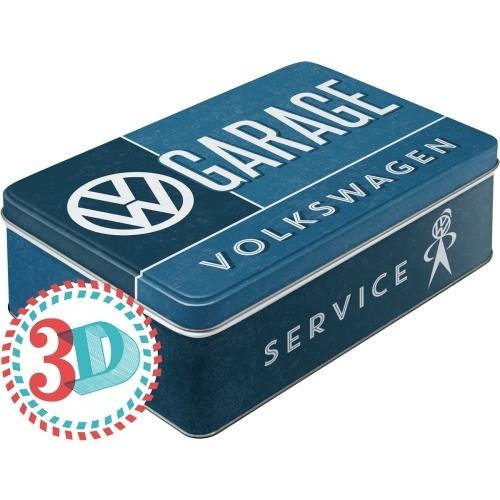 Original vw garage blechdose flach bestellen for Garage volkswagen paris 13