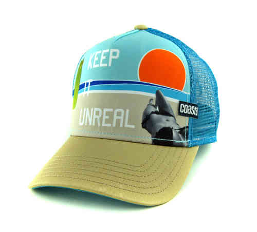 Coastal 80er Retro Trucker Mesh Cap Unreal