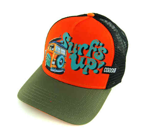 Coastal 80er Retro Trucker Mesh Cap Surf Up