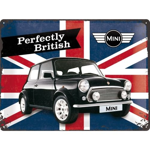 Mini Cooper Perfectly British Blechschild 30x40 cm