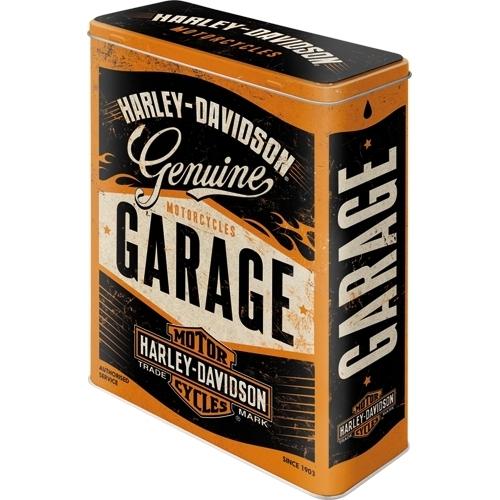 harley davidson genuine garage blechdose xl bestellen. Black Bedroom Furniture Sets. Home Design Ideas