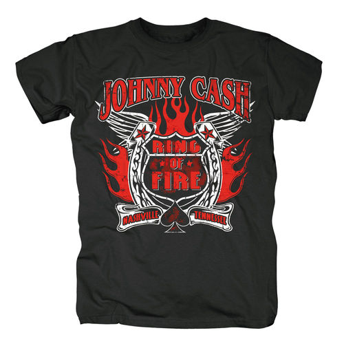Johnny Cash Herren T-Shirt Ring Of Fire