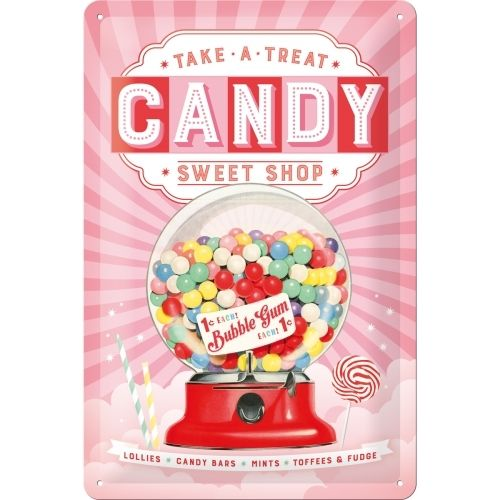 Retro Candy Blechschild 20x30 cm