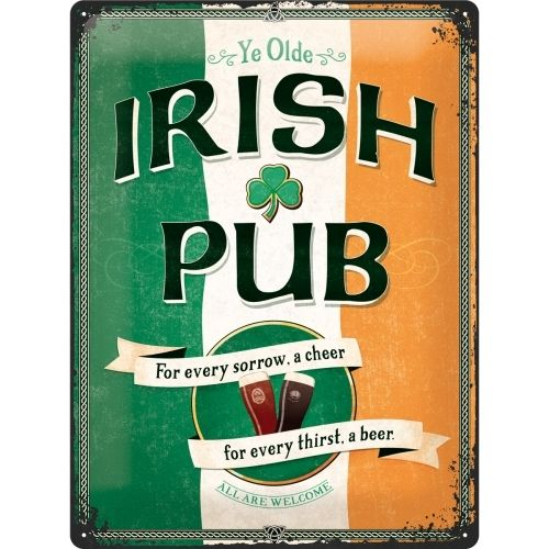 Retro Bar Irish Pub Blechschild 30x40 cm