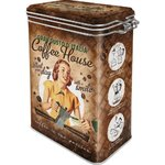 50er Retro Coffee House Lady Aromadose Blechdose