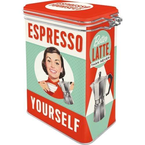 50er Retro Espresso Yourself Aromadose Blechdose