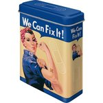 Retro We Can Fix It Frau Pflasterdose Blechdose