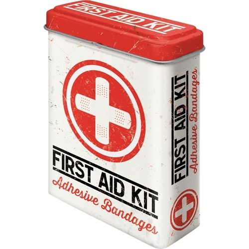 Retro First Aid Kit Pflasterdose Blechdose