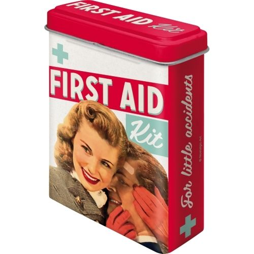 First Aid Kit Couple Pflasterdose Blechdose