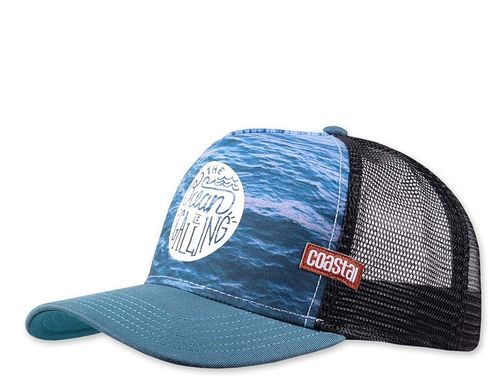 Retro Coastal Cap Trucker Mash Basecap Ocean Is Calling