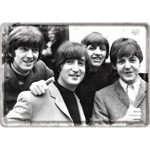 The Beatles Photo Blechpostkarte Grußkarte