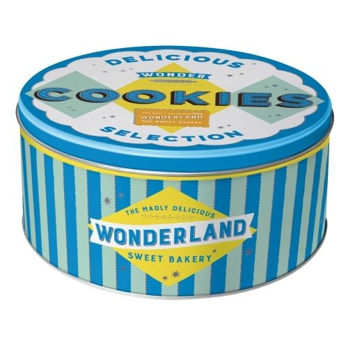 Retro Delicious Wonder Cookies Keksdose Rund