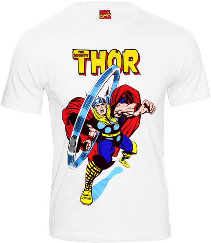 Marvel Comics The Mighty Thor Herren T-Shirt Fight