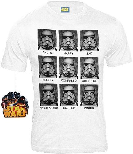 Star Wars Movie Herren T-Shirt Stormtrooper Emotions