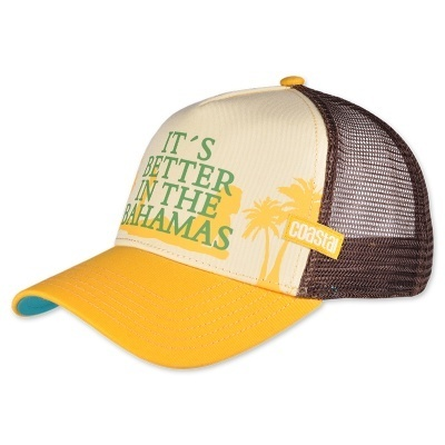 Retro Coastal Cap Trucker Mesh Basecap Its Better In The Bahamas