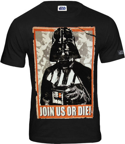 Star Wars Herren T-Shirt Darth Vader Join Us Or Die