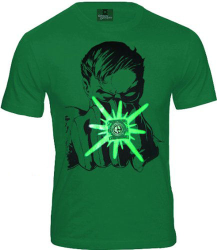 DC Comics Herren T-Shirt Green Lantern Ring