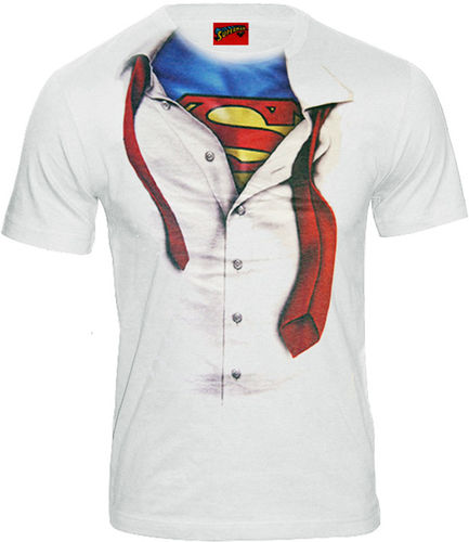 DC Comics Herren T-Shirt Superman Clark Kent