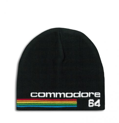 Retro Commodore 64 Logo Beanie Strick Mütze