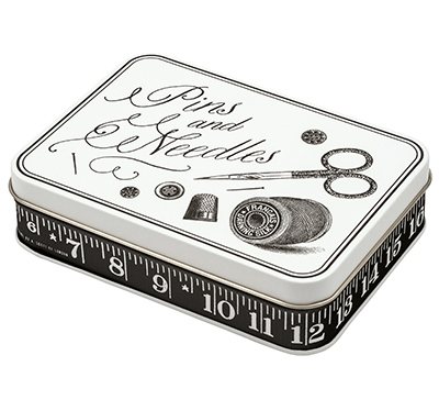 Retro Sewing Kit Blechdose Pins and Needles