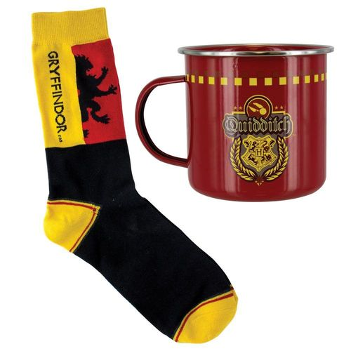 Harry Potter Set Tasse & Socken Gryffindor Quidditch