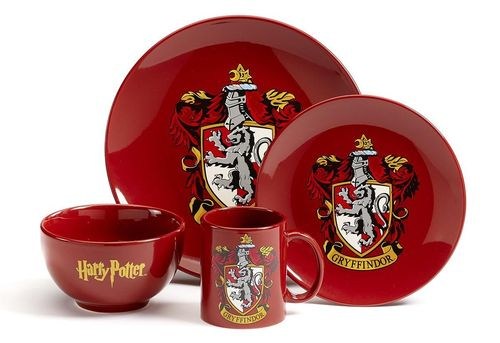 Harry Potter 4er Geschirr Set Gryffindor Wappen