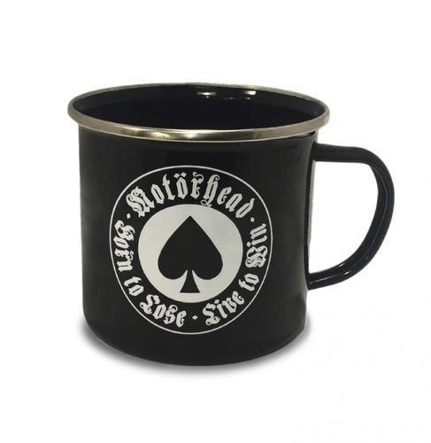Hard Rock Emaillie Tasse Kaffeetasse Motörhead Born To Lose